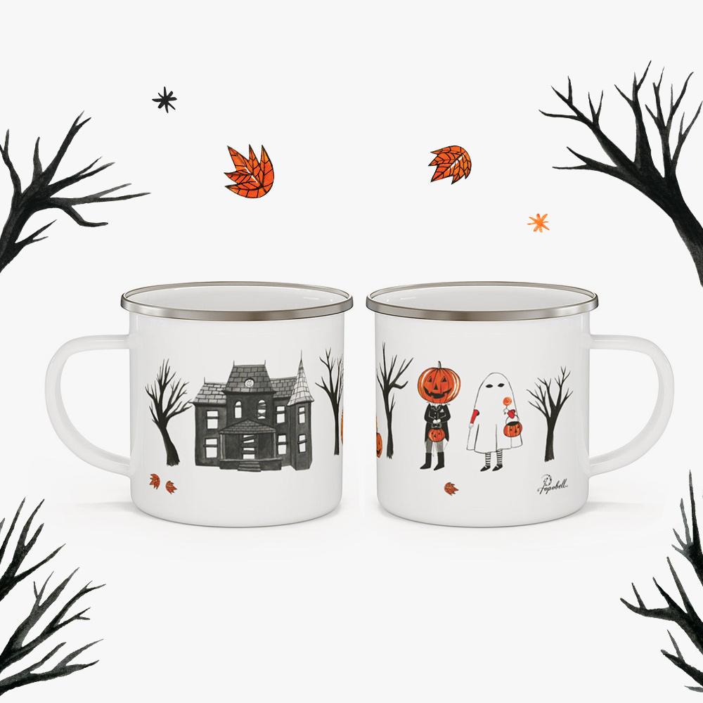 Halloween Enamel Mug