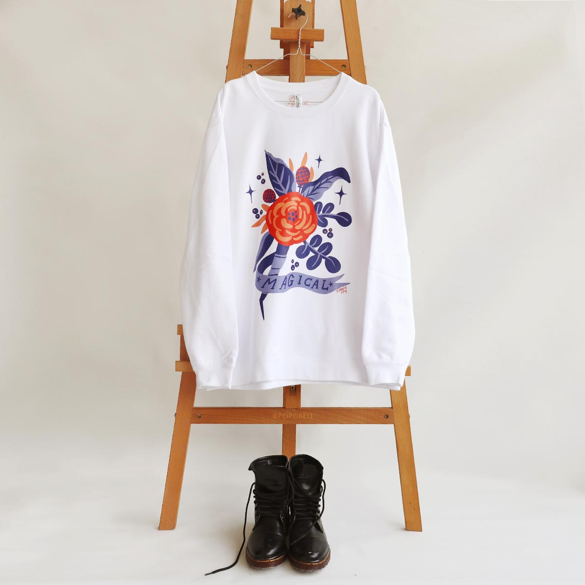 Magical-White-Popobell-Crewneck-Front